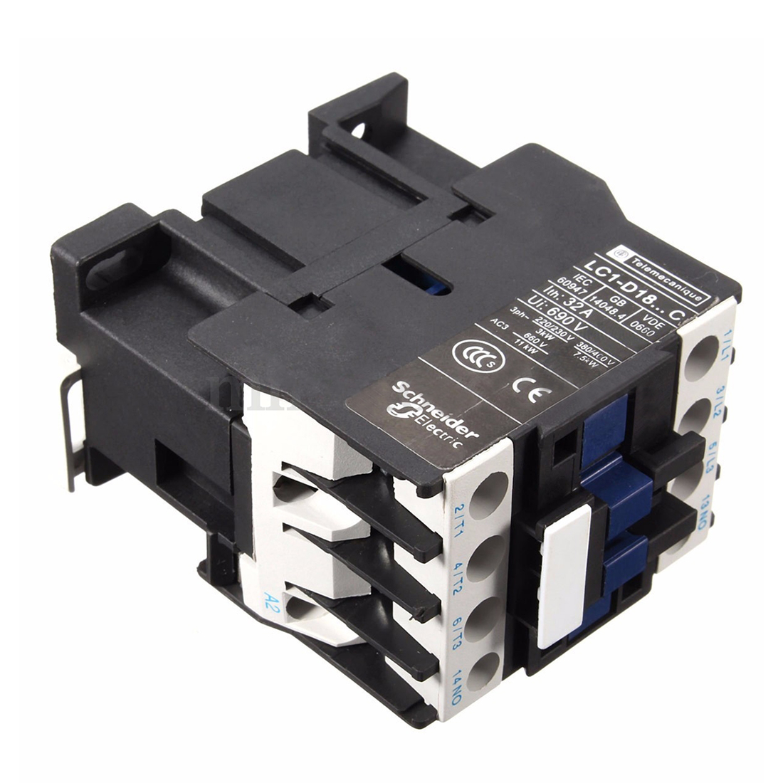 Power ac contactor 1no ac 220v 50 60hz coil motor starter for Three phase motor starter