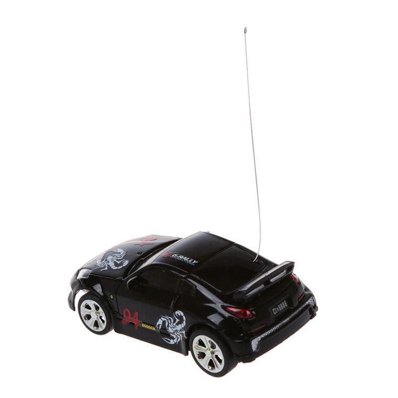 5X Schwarz C2B3 Mini RC Auto Racing Car Spielzeug in der Getraenkedose 1:58