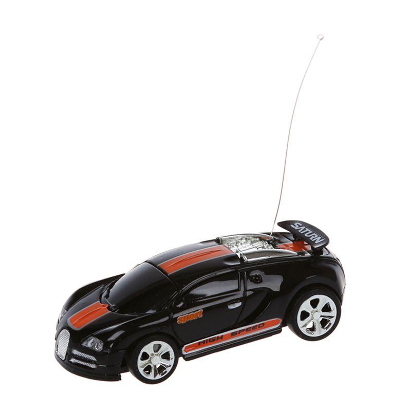 C2B3 Mini RC Auto Racing Car Spielzeug in der Getraenkedose 1:58 Schwarz 5X