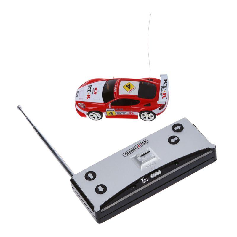C2B3 5X Mini RC Auto Racing Car Spielzeug in der Getraenkedose 1:58 Schwarz