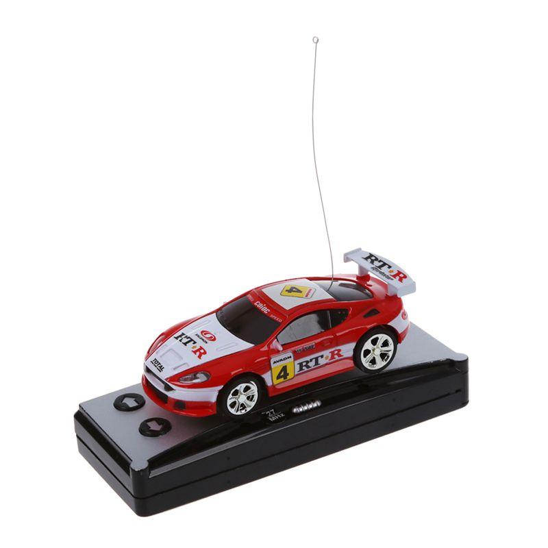 Mini RC Auto Racing Car Spielzeug in der Getraenkedose 1:58 C2B3 Schwarz 5X
