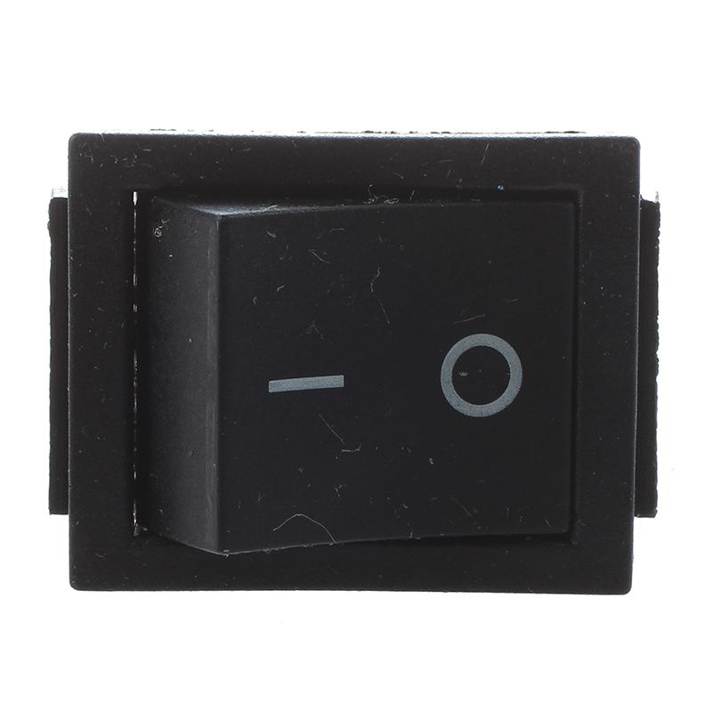 Marche//Arr/êt RICISUNG Lot de 10 interrupteurs /à bascule noirs CA 6 A//125 V ronds 3 A//250 V