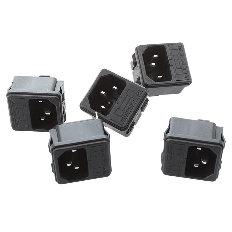 5 X Iec 320 C14 Inlet Maennliche Steckdosen Klemme Typ Mit Sicherungshalter F3W4