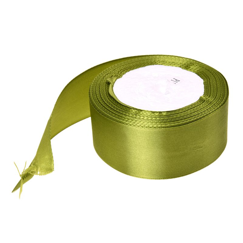 Army green 1 roll 40mm 22 Meters silk satin ribbon for wedding party T1Z6