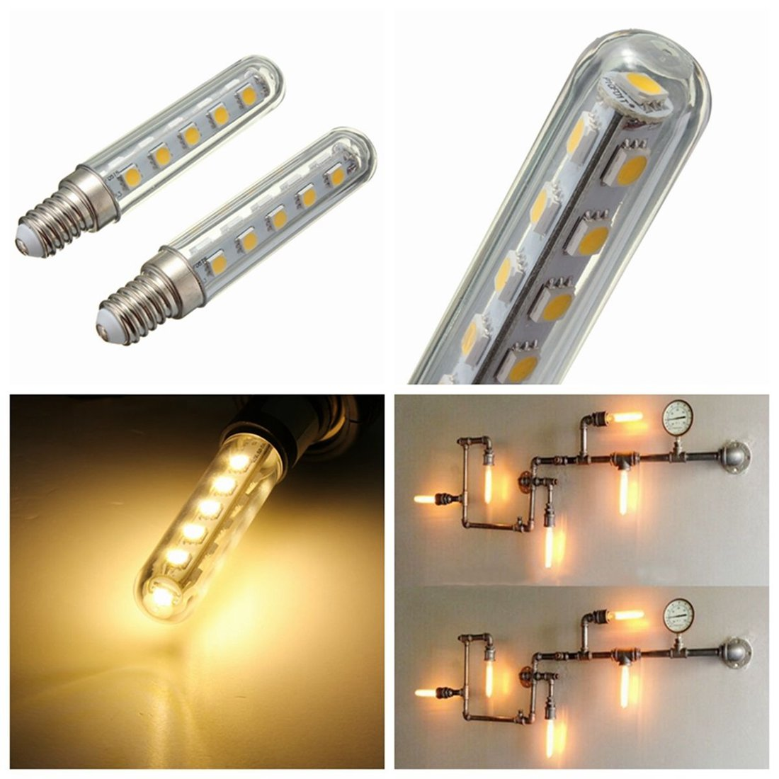 2pcs 2.5W Led Light Bulb For Kitchen Hood Exhaust Cooker