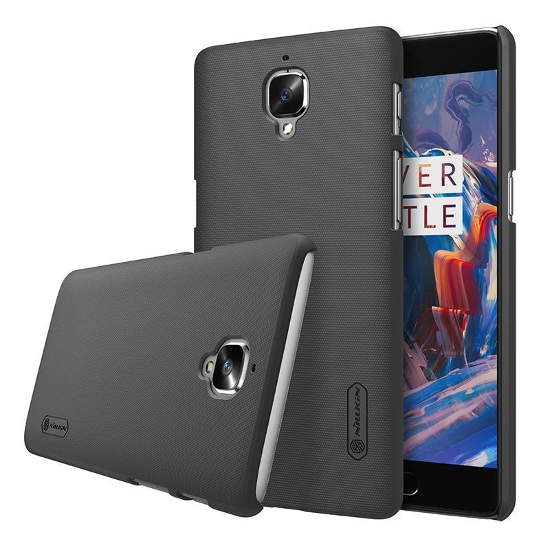 Nillkin-Matte-Shield-Hard-Case-Cover-LCD-Screen-Protector-For-OnePlus-3-Bl-SHJ