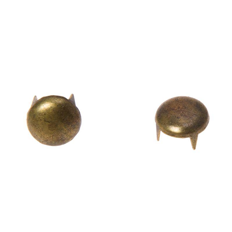 50 Sets Rivet Clous Tête Rond Couleur Moins Brillant 9mmx6mm 7mmx6mm B25468