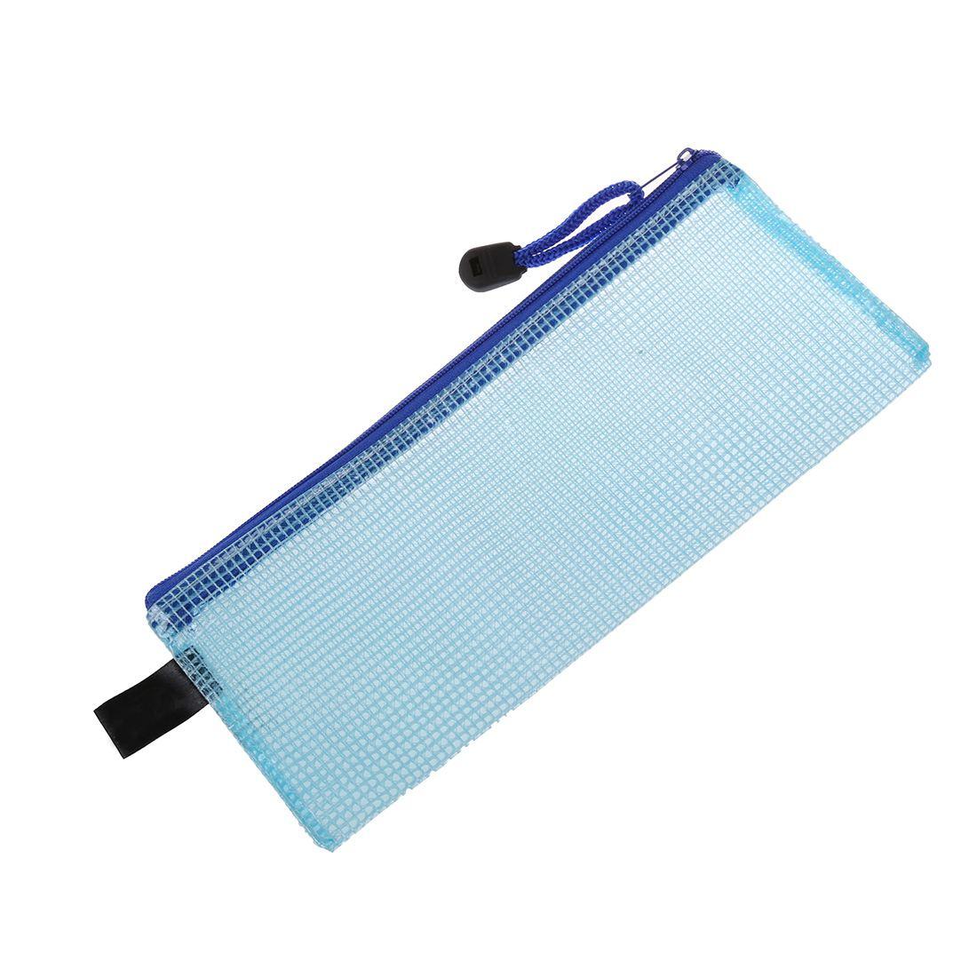 Sac a papier bleu en pvc avec fermeture a glissiere b8m3 for Fermeture pvc
