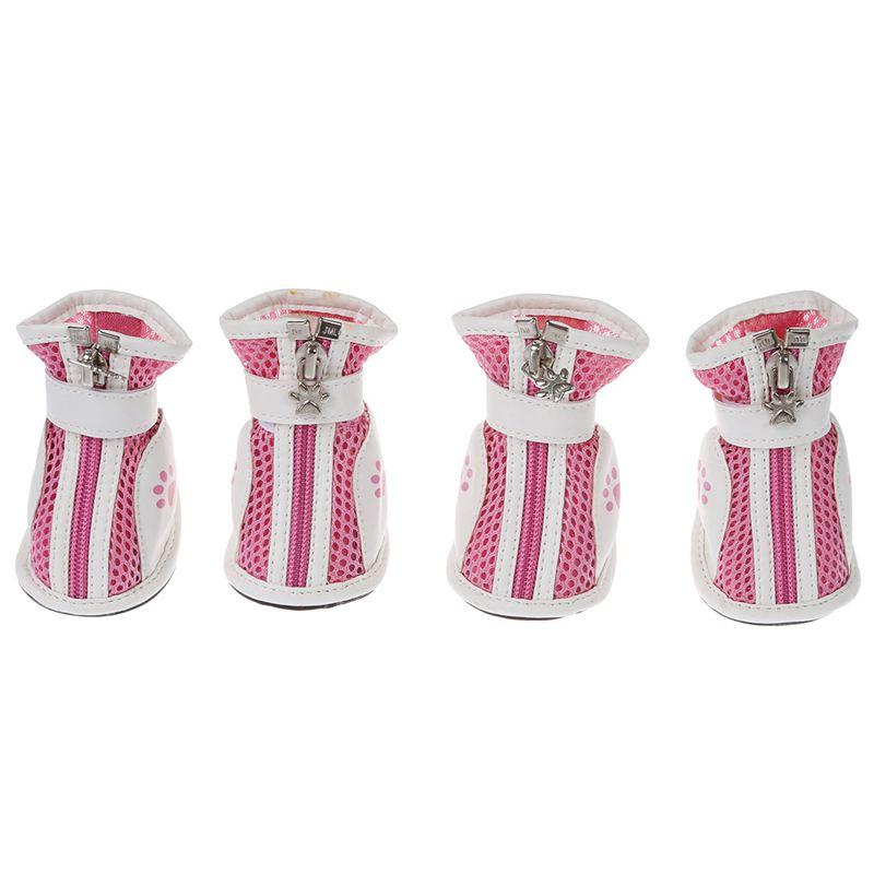 4pcs-Zapatos-de-Suela-Antideslizante-de-Detachable-con-malla-del-animal-domestT6