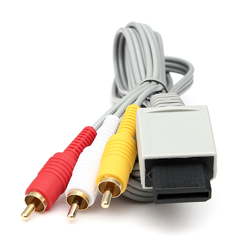 2X-Audio-Video-AV-Composite-3RCA-Cable-Cord-Connector-for-Nintendo-Wii-Game-U1I1 thumbnail 2