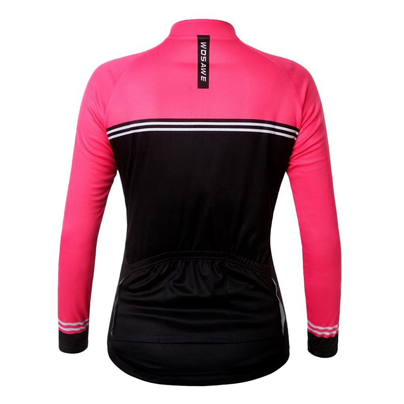 WOSAWE-Womens-Cycling-Jersey-Shirt-Long-Sleeves-Breathable-Bicycle-Jersey-U7J7