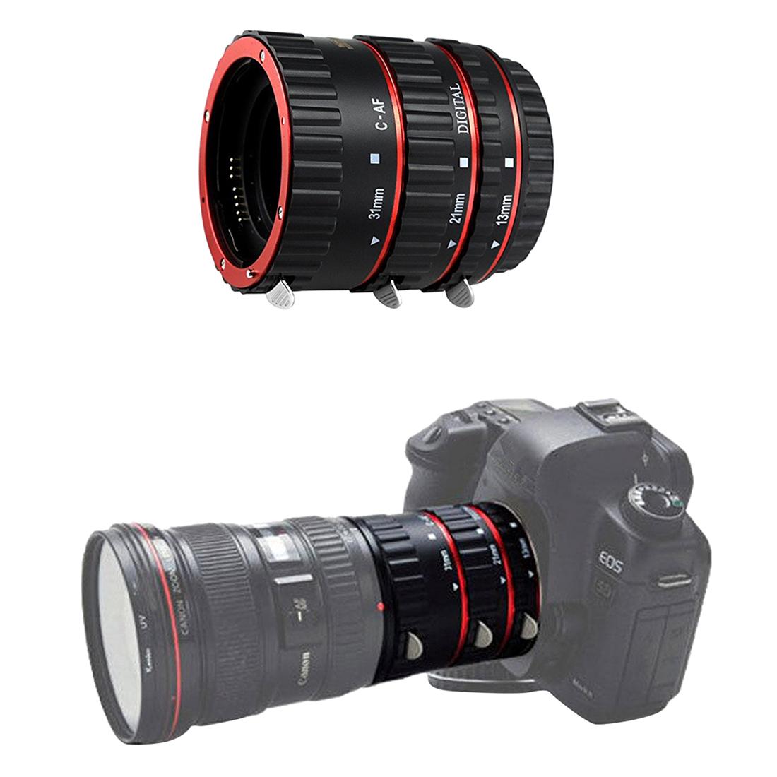 shoot auto focus macro extension tube set for slr cameras ef ef s lens e7w3 ebay. Black Bedroom Furniture Sets. Home Design Ideas