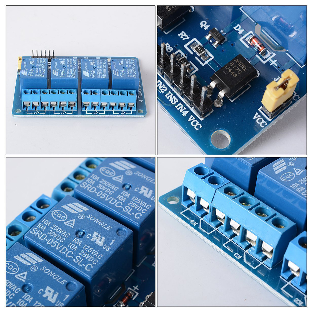 5V-4-Channel-Relay-Shield-Module-Optocoupler-for-PIC-AVR-DSP-Arduino-ARM-TE-X6B2