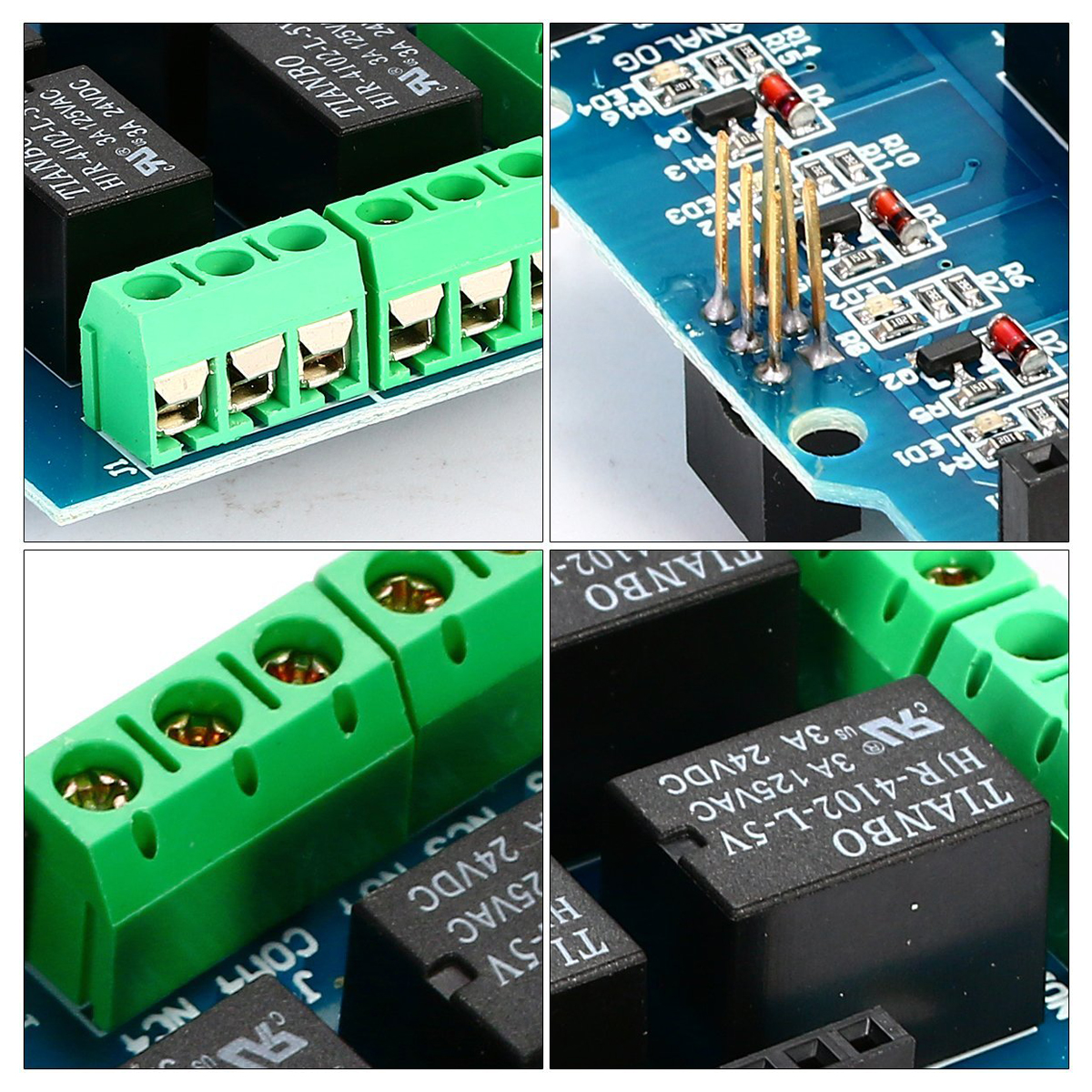 Four Channel Relay Shield 5v 4 4ch Module Screen For Simple Arduino Use Projects Standard And Shape Interfaces Continue To Stack Other Expansion Boards 3 M3 Screw Positioning Holes Easy Installation