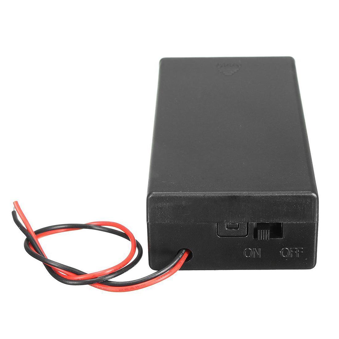 3.7V 2x 18650 Battery Holder Connector Storage Case Box ON/OFF ...