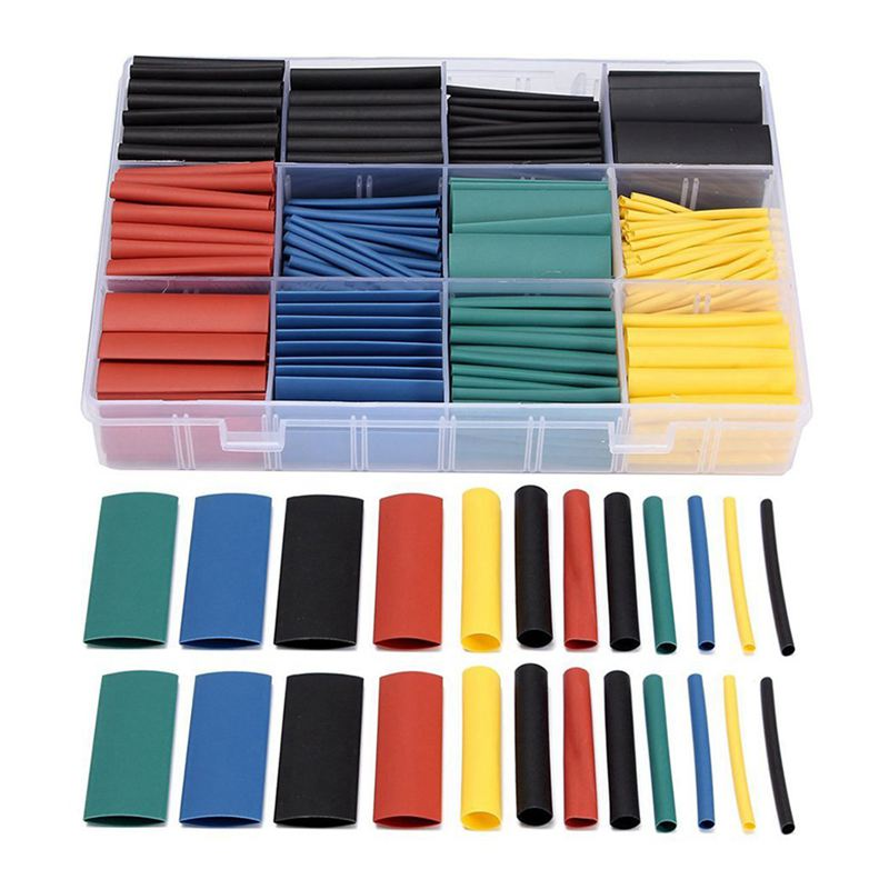 530pcs Heat Shrink Wire Wrap Cable Sleeve Tubing Sets Electric ...