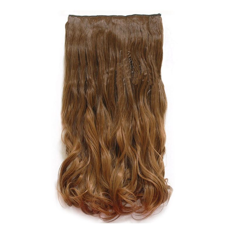 24 Gradient Color Hair Extensions Long Wavy Curly Dip Dye Synthetic