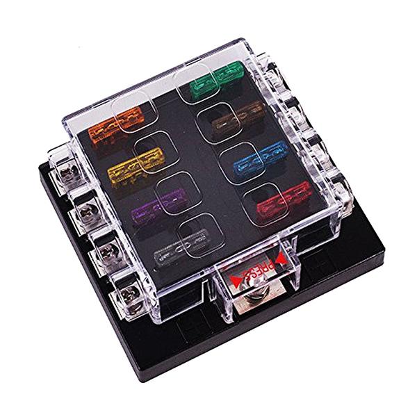 image is loading 2x-universal-8-way-circuit-automotive-blade-fuse-