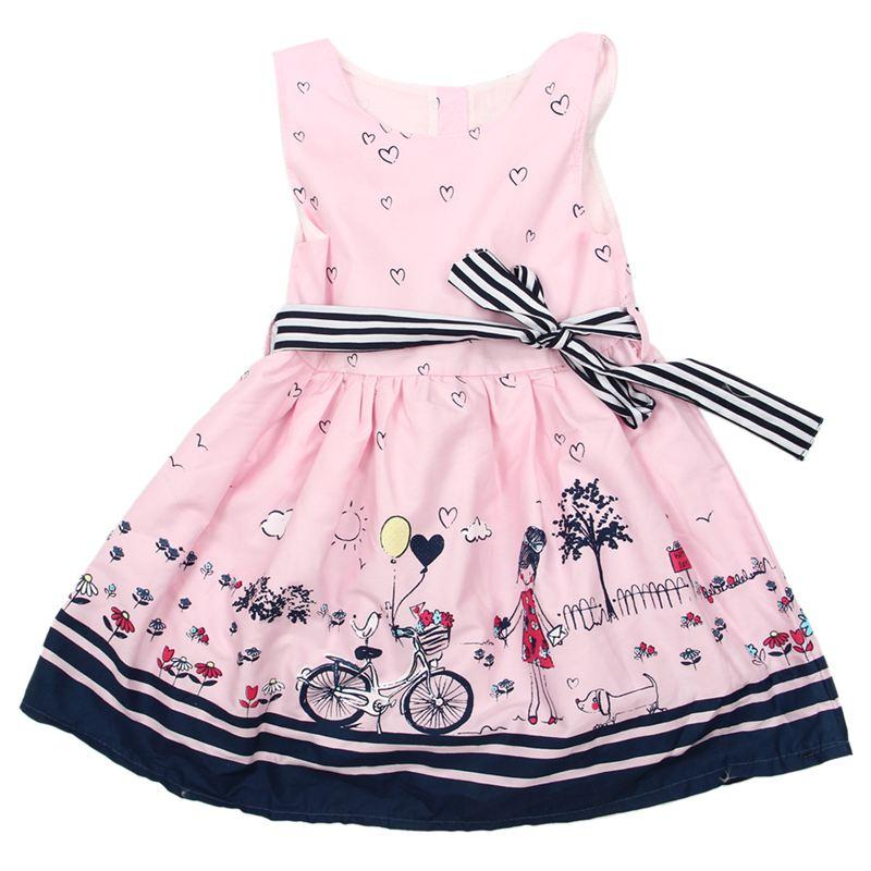 5576afc2eb1 1X(Girl Dress Summer New Girls Dress Kids Clothes Children Dress ...