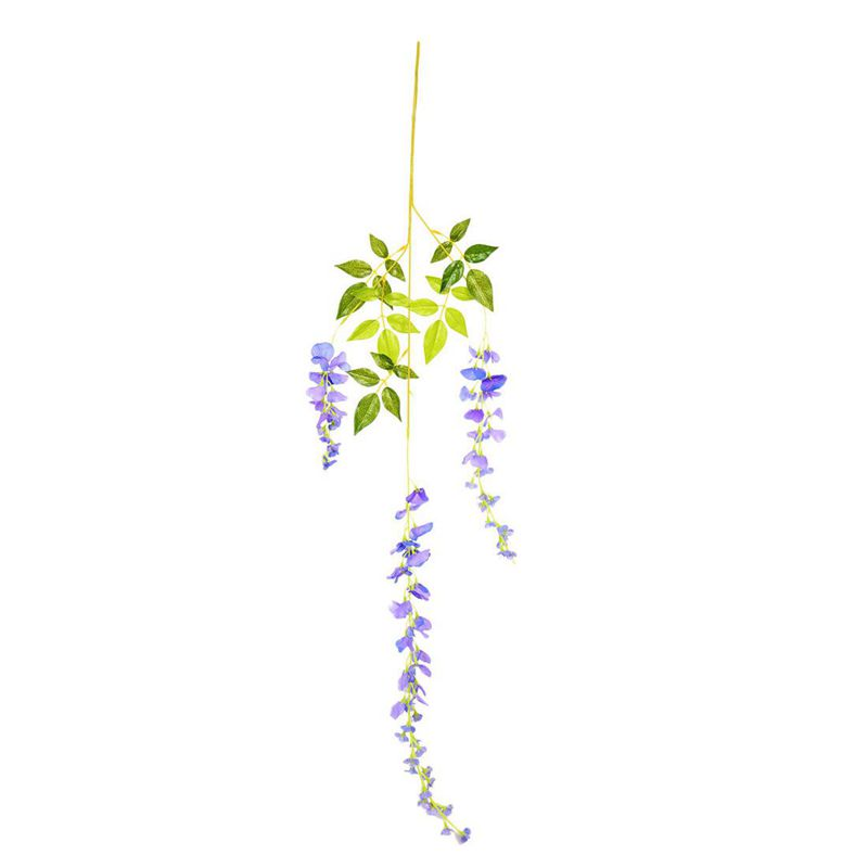 Silk-Wisteria-Vines-12pcs-105cm-Artificial-Wisteria-Flower-Garlands-for-Wed-V3O9 thumbnail 7