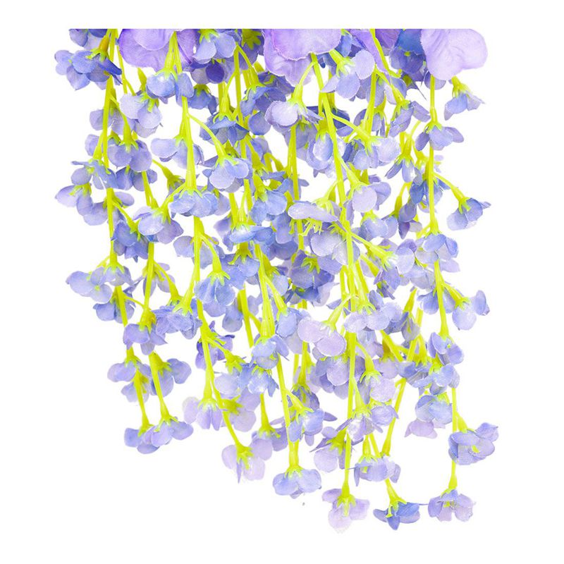 Silk-Wisteria-Vines-12pcs-105cm-Artificial-Wisteria-Flower-Garlands-for-Wed-V3O9 thumbnail 8