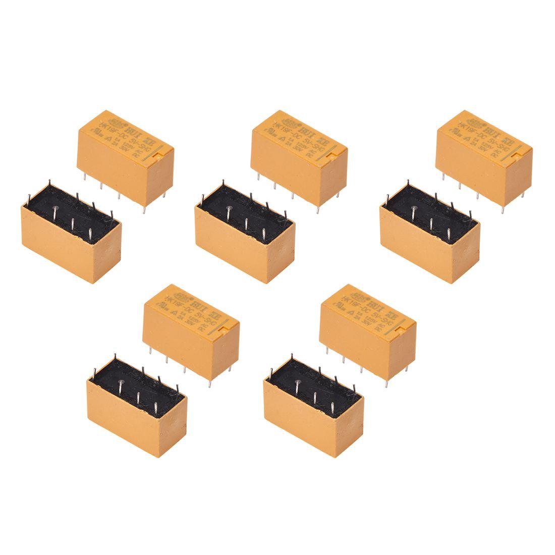 10 X Dc 5v Coil 125v 1a 30v 2a Ac 8 Pins Dpdt Power Ltspice Spdt Relay Hk19 V7r2