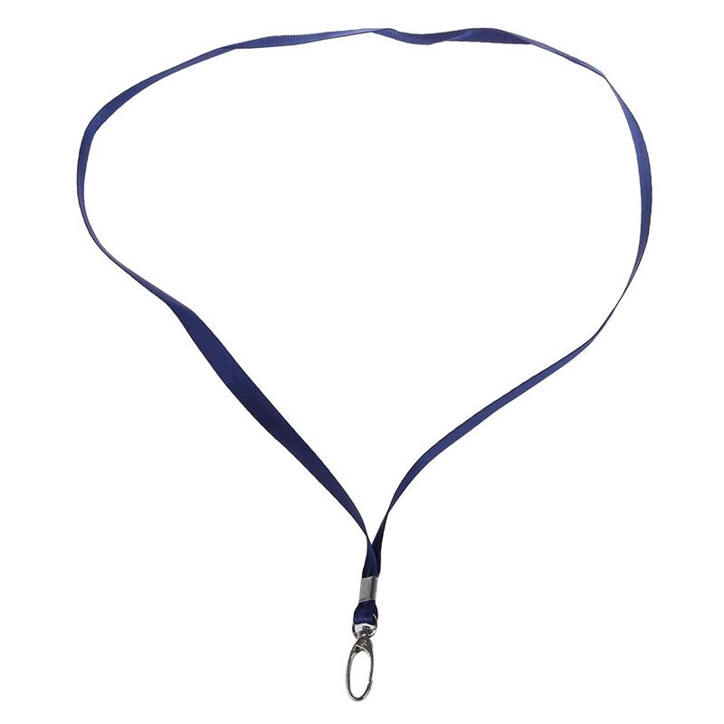 2 Pcs Metal Gancho Rosa Oscuro Azul Nylon Cinta Llaves Soporte Acollador O3J1
