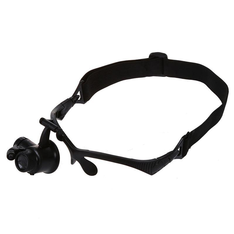 LED-Brillenlupe-Kopflupe-Lupenbrille-Vergroesserung-Lupe-mit-Licht-10x-15x-20-G5 Indexbild 3