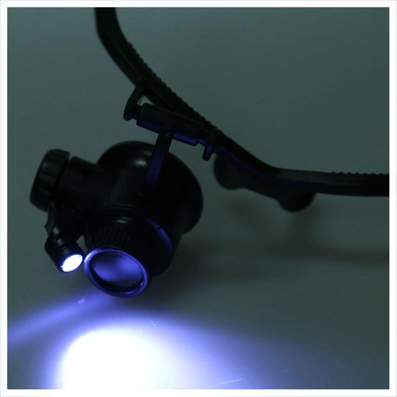 LED-Brillenlupe-Kopflupe-Lupenbrille-Vergroesserung-Lupe-mit-Licht-10x-15x-20-G5 Indexbild 6