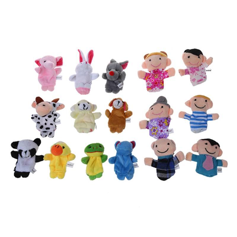 16 stk Geschichte Finger Marionetten 10 Haustiere 6 Personen von Mitglieder Z7O5