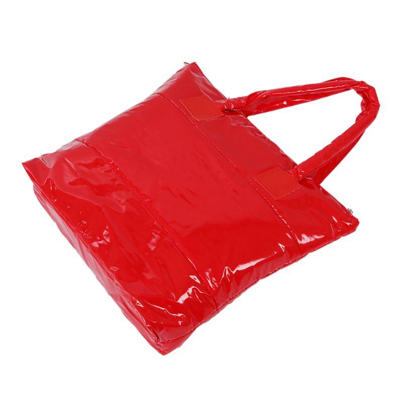 Stilvolle-Einfache-Reine-Winter-Baumwolle-Handtasche-Schulter-Tasche-Rot-L2C7