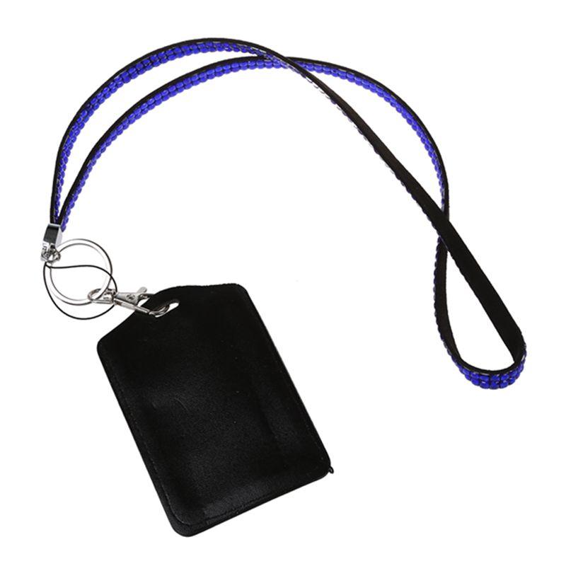 Rhinestone-Bling-Crystal-Custom-Lanyard-Vertical-ID-Badge-Holder-I9O6 thumbnail 13