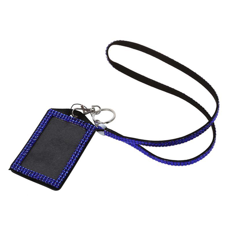 Rhinestone-Bling-Crystal-Custom-Lanyard-Vertical-ID-Badge-Holder-I9O6 thumbnail 14