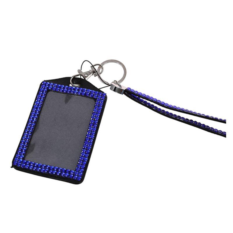 Rhinestone-Bling-Crystal-Custom-Lanyard-Vertical-ID-Badge-Holder-I9O6 thumbnail 15