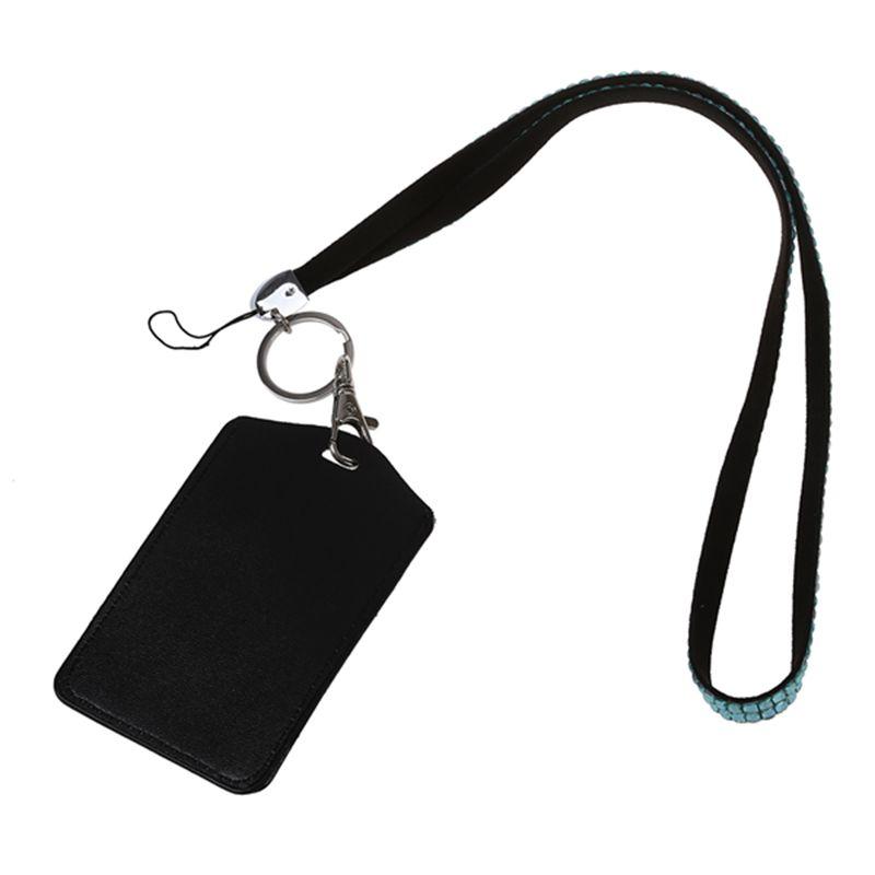 Rhinestone-Bling-Crystal-Custom-Lanyard-Vertical-ID-Badge-Holder-I9O6 thumbnail 20