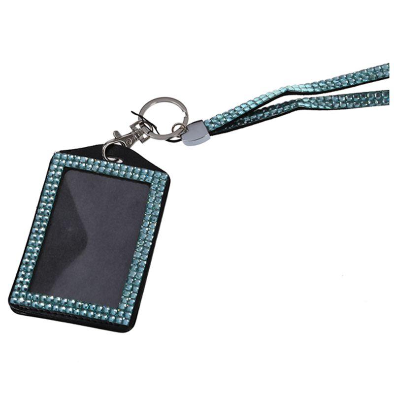 Rhinestone-Bling-Crystal-Custom-Lanyard-Vertical-ID-Badge-Holder-I9O6 thumbnail 21