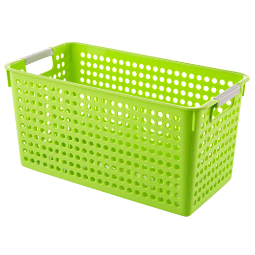 Japanese Style Stackable Plastic Storage Baskets Bins