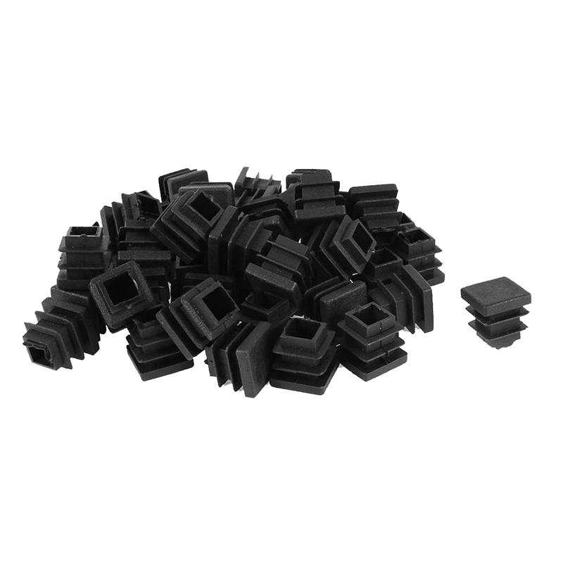 10pcs plastique noir bouchons carrés inserts pour tuyau tube sect RD