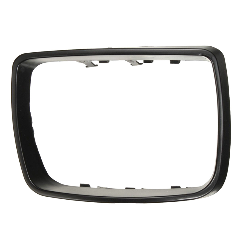 Right Door Mirror Cover Cap Trim Ring Replacement For BMW X5 E53 Black F1A5 O6P6