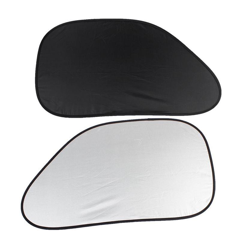 Moligh doll 2pcs Auto Ventana Lateral Parasol de Coche Color Negro Plata