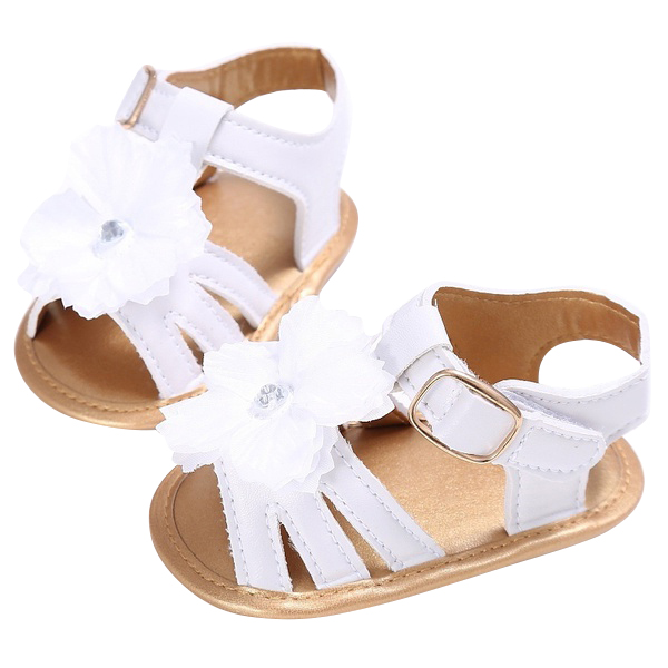 Beautiful-Flower-Girl-Baby-Princess-Shoes-Leather-Sandals-Pink-6-12m-W3X4