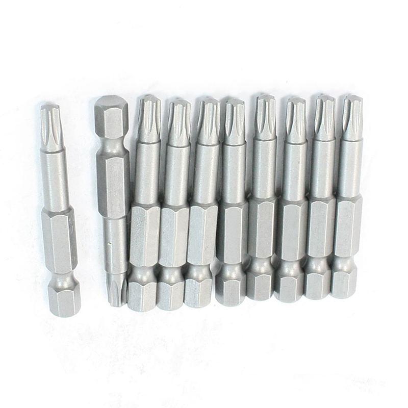 Hardware Part Magnetic 100mm Long Phillips PH2 Screwdriver Bits 10 Pcs M5D8
