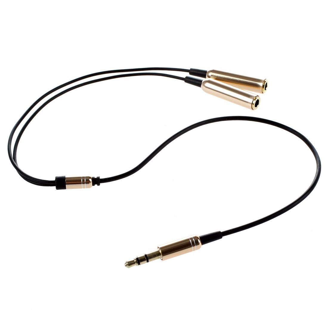 fiche de 3 5mm male a double connecteur adaptateur femelle cable audio jack dore