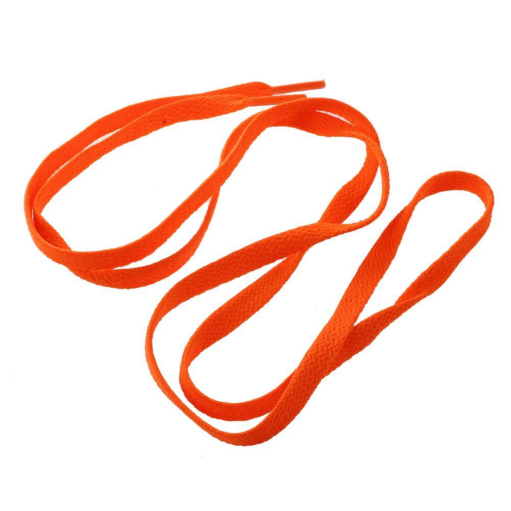 2 paires lacets plats de chaussures de sport pour unisexe orange A4G9