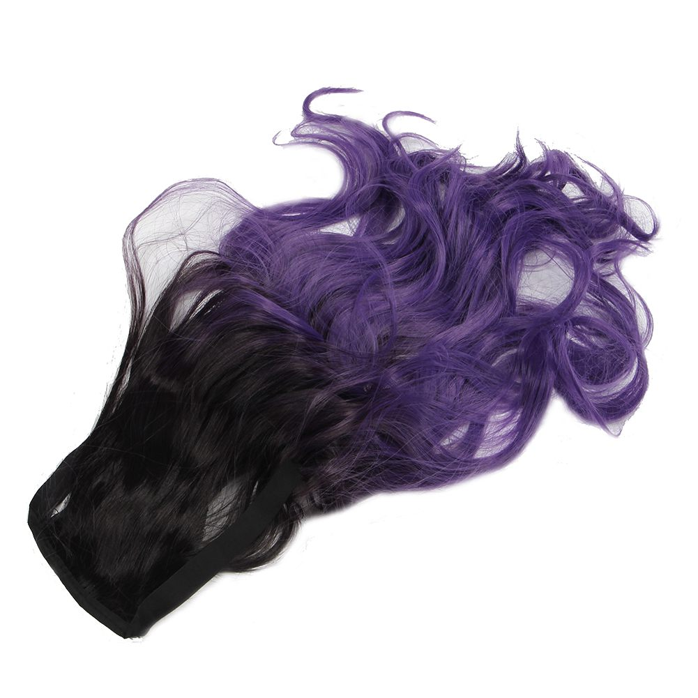 Purple black hair extensions the best black hair 2017 black purple ombre ponytail clip hair tail colored body wave pmusecretfo Image collections