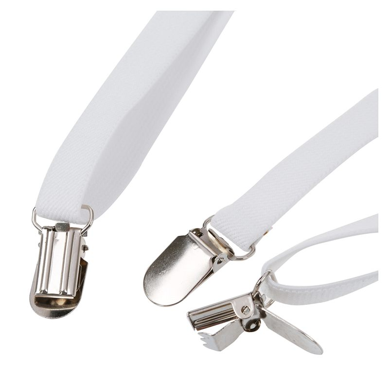 Adult-Adjustable-Metal-Clamp-Elastic-Suspenders-Braces-W7U2 thumbnail 15