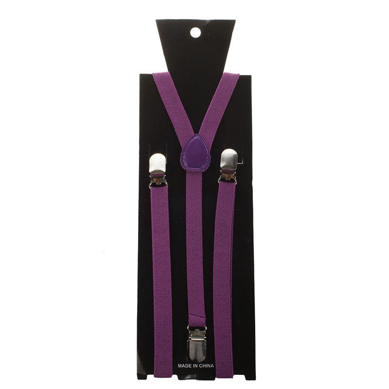 Adult-Adjustable-Metal-Clamp-Elastic-Suspenders-Braces-W7U2 thumbnail 25