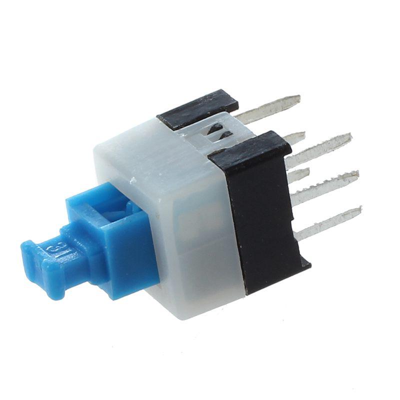 55pcs 6 Pin DPDT Self-locking Power Micro Push Button Switches 7mmx7mm B1U6