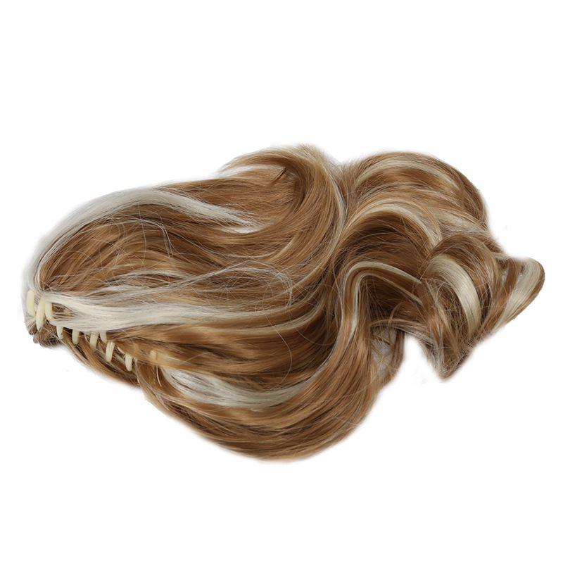 Women-039-s-Hairpieces-Wavy-Ponytail-Hair-Extensions-K22THK613B-Brown-amp-Blonde-Q8C5 thumbnail 2