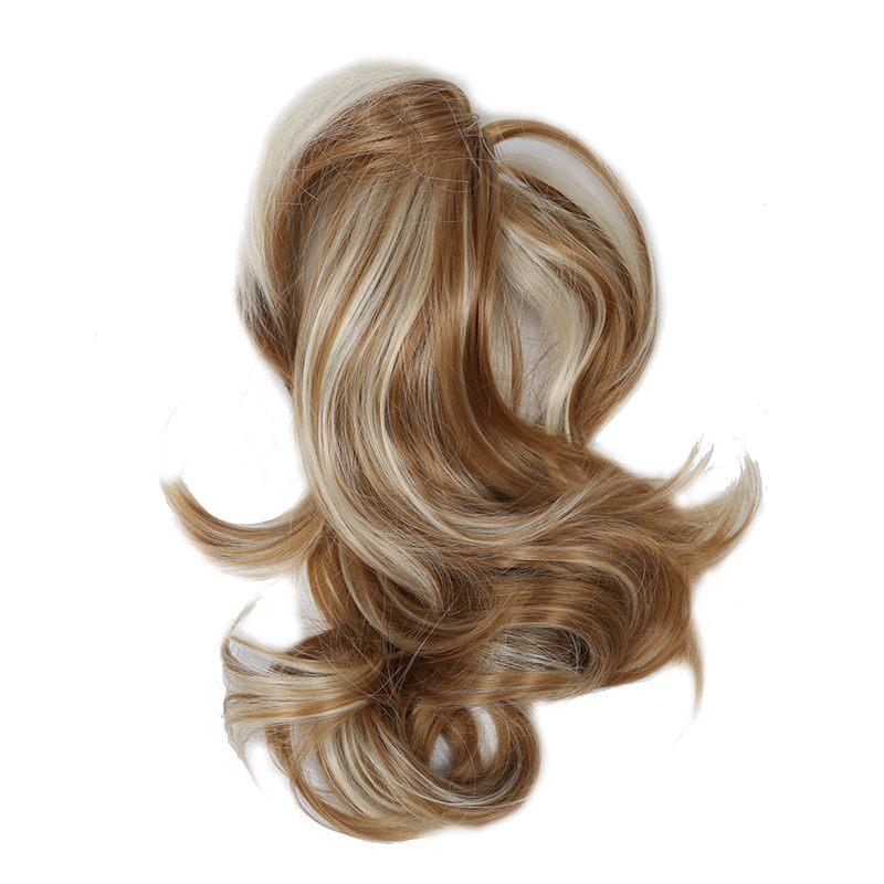 Women-039-s-Hairpieces-Wavy-Ponytail-Hair-Extensions-K22THK613B-Brown-amp-Blonde-Q8C5 thumbnail 3